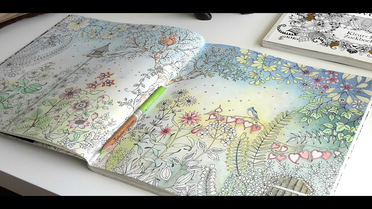 colouring secret garden the morning garden part 5 youtube - My Secret Garden Coloring Book