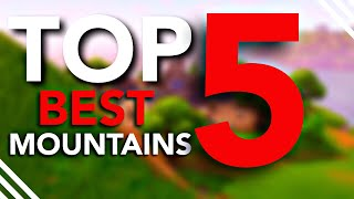 Top 5 Mountains in Fortnite Battle Royale! (You don't use these...)