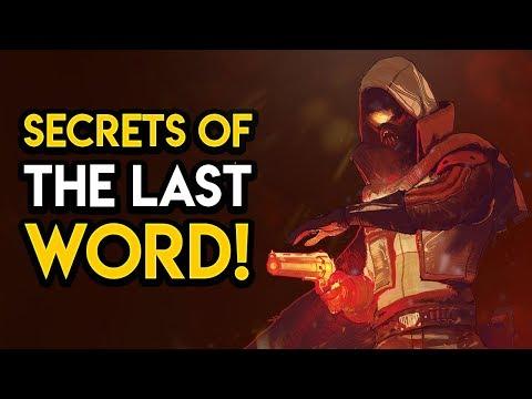 Destiny 2 - THE LAST WORDS LOST TWIN! Origin, New Quest, MORE!