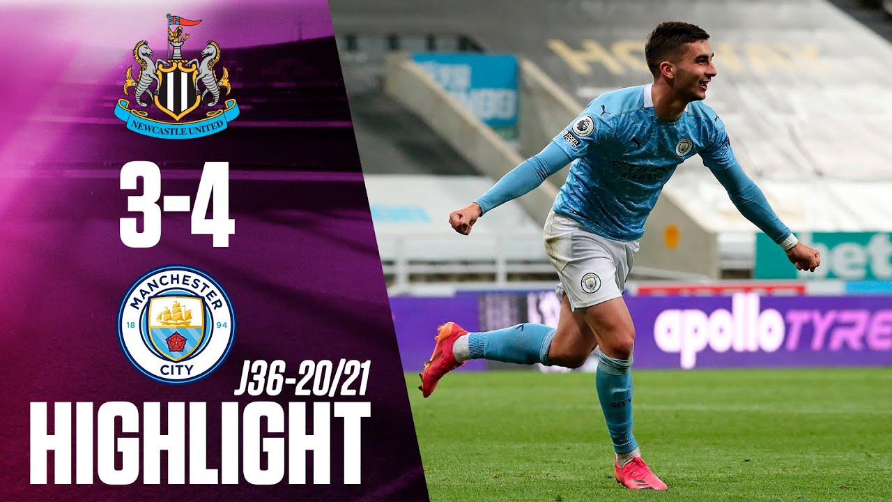 Newcastle 3-4 Man City highlights