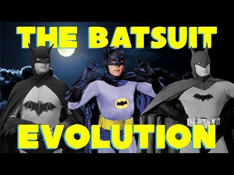 Batman Batsuit Movie Evolution 1943 - 1979