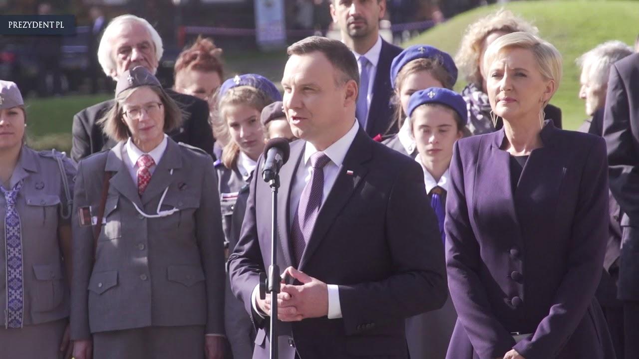 Spotkanie prezydenta Andrzeja Dudy z harcerzami
