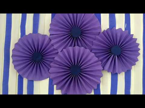 How To Make Paper Fan For Wall Decoration