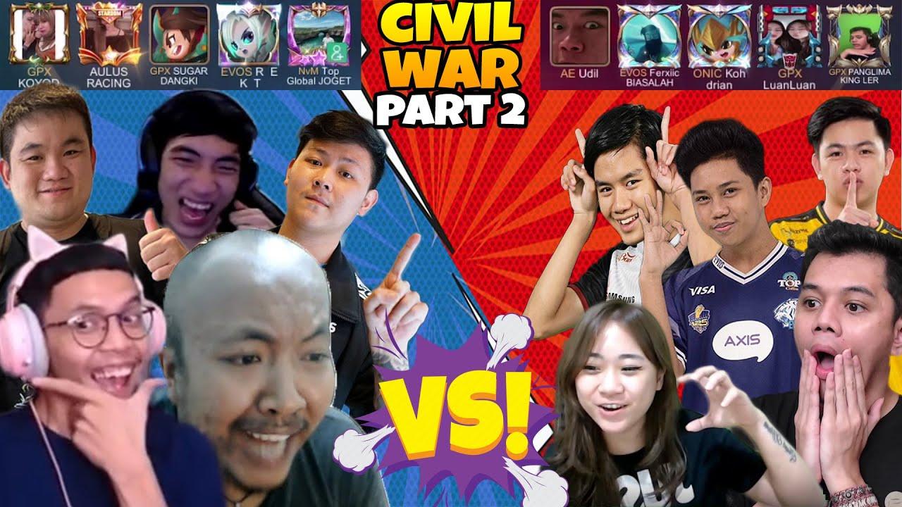 Download Tim PASCOL VS Tim LUAN2 Part 2!! PERANG SAUDARA Terjadi Lagi!! - Mobile Legends