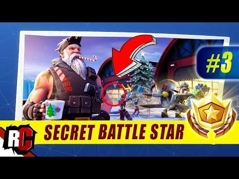Fortnite | WEEK 3 Secret Battle Star Location (Season 7 Week 3 Loading Screen / Snowfall Skin)