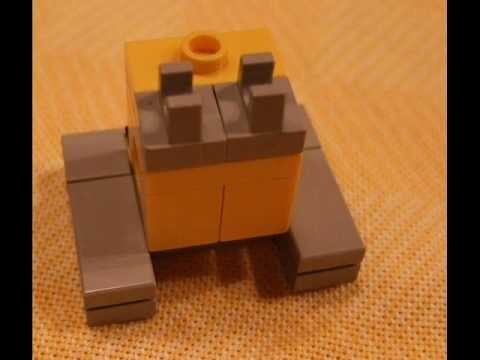 Lego Micro Scale Wall E Building Instructions Youtube
