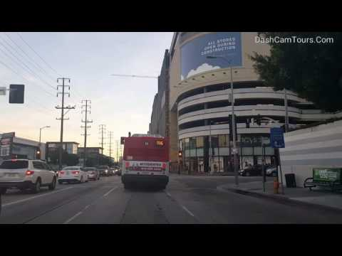 Los Angeles Driving Tour: La Cienega Blvd, Four Seasons Hotel, Cedars-Sinai Medical Center