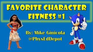 Favorite Character Fitness 1 - at home PE distance learning Resimi