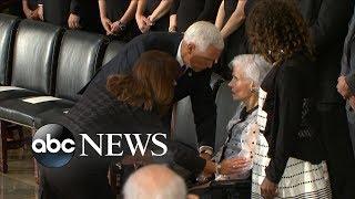 Roberta McCain, 106, attends son John McCain's Washington services