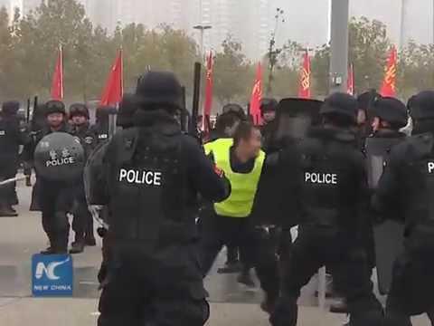 Anti-terror drill in N. China