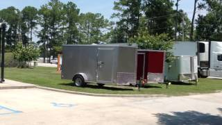 Pace Covered Wagon Down 2 Earth Trailers Utility Trailers  Tandem 6 x12, 7 x 14 7 x 16