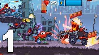 Car Eats Car Apocalypse racing (Хищные машины)  - Gameplay Walkthrough  part 1 (iOS, Android)
