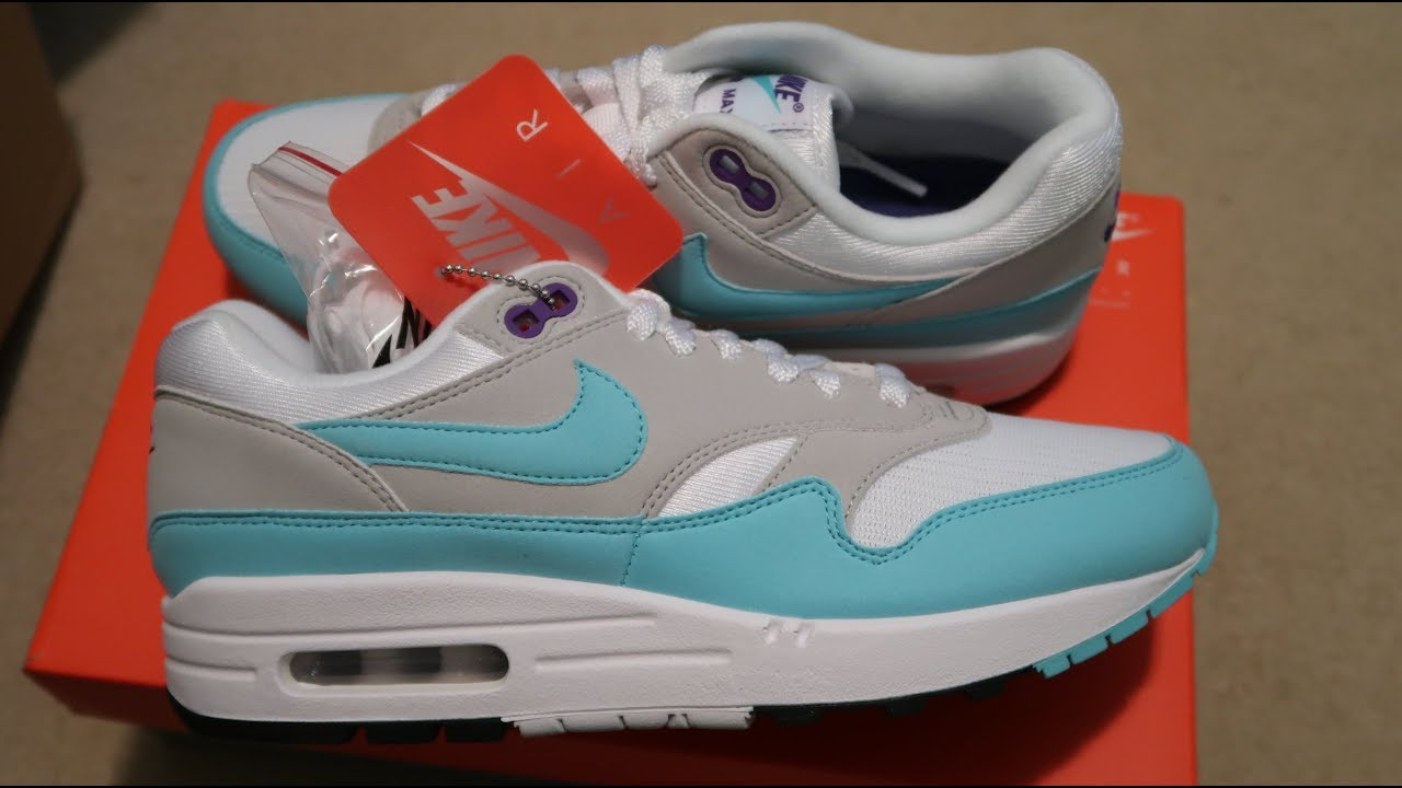 9b04cebfbc4 Nike Air Max 1 OG  Aqua  Sneaker Unboxing - YouTube