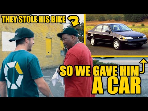 THEY STOLE HIS BIKE SO WE GAVE HIM A CAR!
