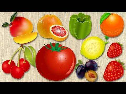Food Puzzle for Kids Learning Fruits and Vegetables Names for Kids | Learning Video - English