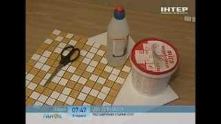 видео Как сделать декупаж или декор кухонного стола своими руками