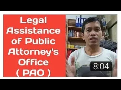 """How to avail free legal assistance of Public Attorney""""s Office PAO ? I 2020 I Tagalog English"""