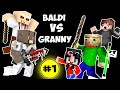 Monster School : BALDI'S BASICS VS GRANNY CHALLENGE - Minecraft Animation Kids Mobs