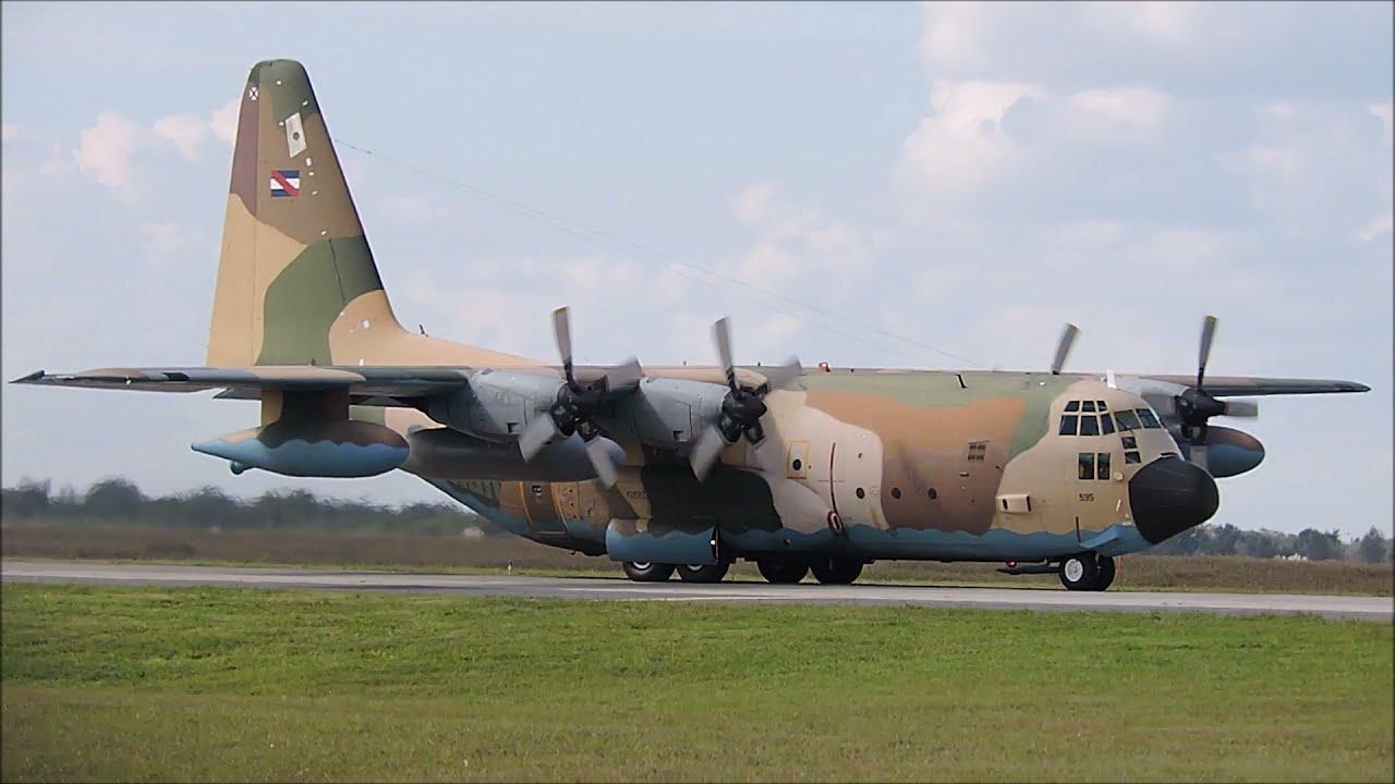 KC-130 FAU 595 de la F.A. Uruguaya en Cordoba (17ABR21)