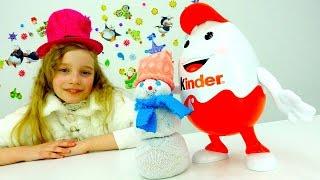Киндер-сюрприз и снеговик - Новогодняя игрушка своими руками