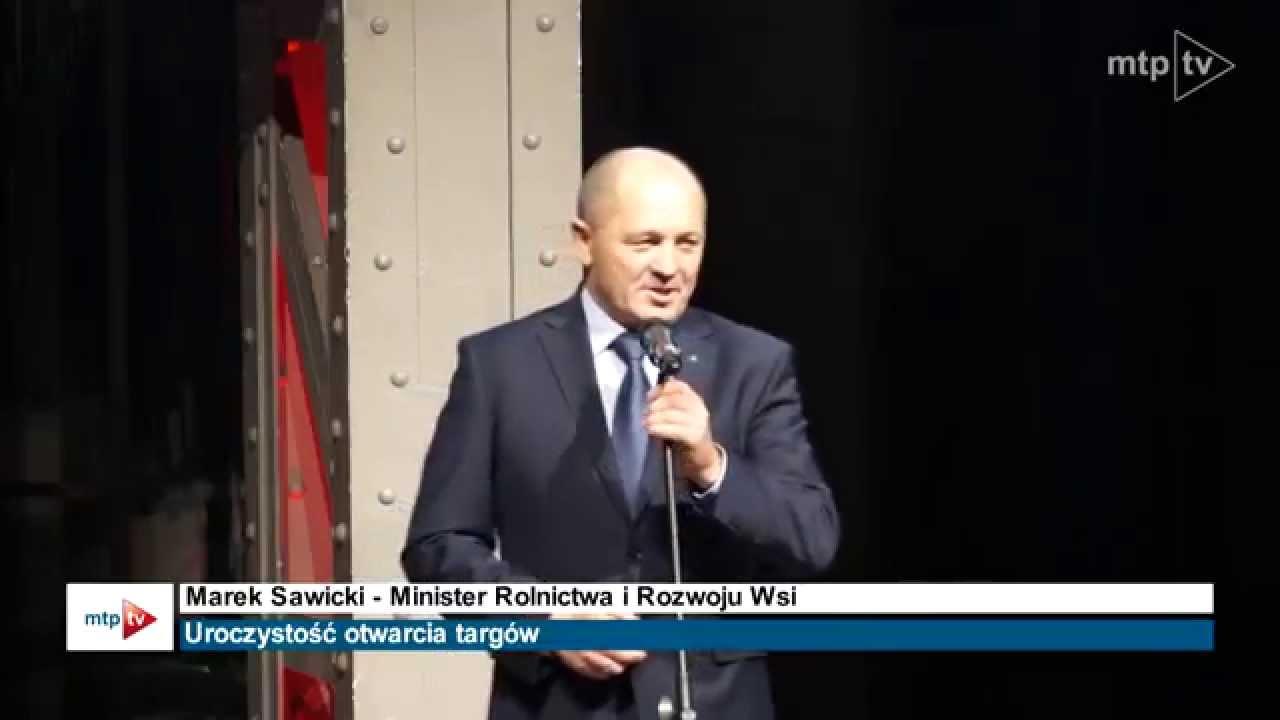 Minister Rolnictwa i Wsi Marek Sawicki otwiera targi POLAGRA 2014