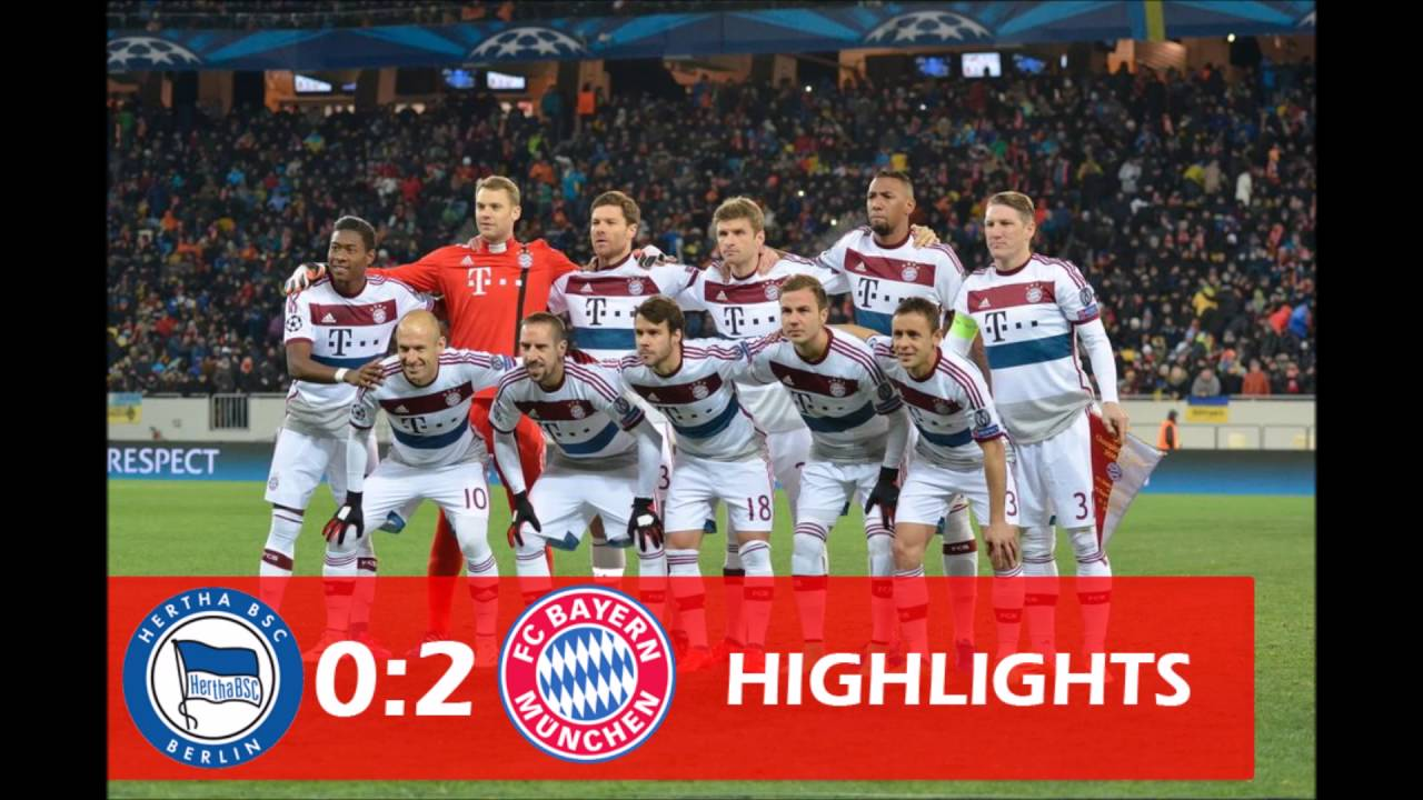Hertha Bsc Fc Bayern München 0 2 Highlights Tore 23