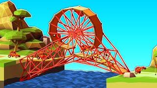 When You Build Bridges That Aren't Exactly Normal in Poly Bridge 2