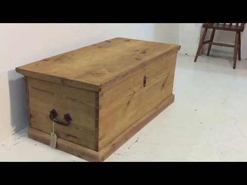 Large 19th Century Pine Blanket Box c.1833 - Pinefinders Old