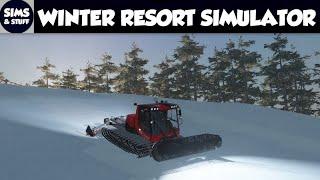 Random Sunday - Winter Resort Simulator - My First Look - Starting The First Tutorial