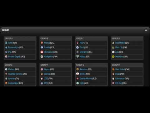UEFA Champions League 2012/13 Group Stage Draw!!