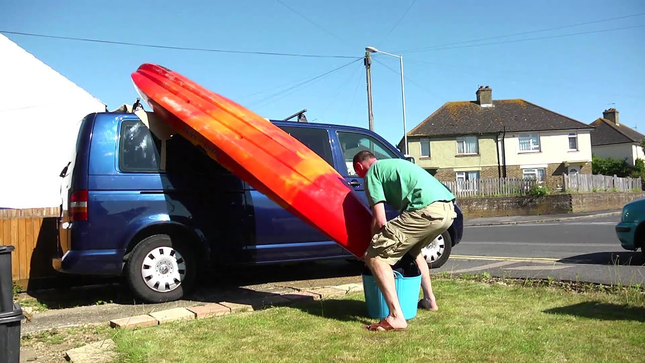 How To Put A Kayak On A Van Youtube