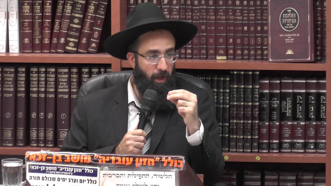 הרב אלמוג לוי : תשעה באב אשר חל במוצאי שבת.