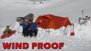 How to Windproof a Snow Tent