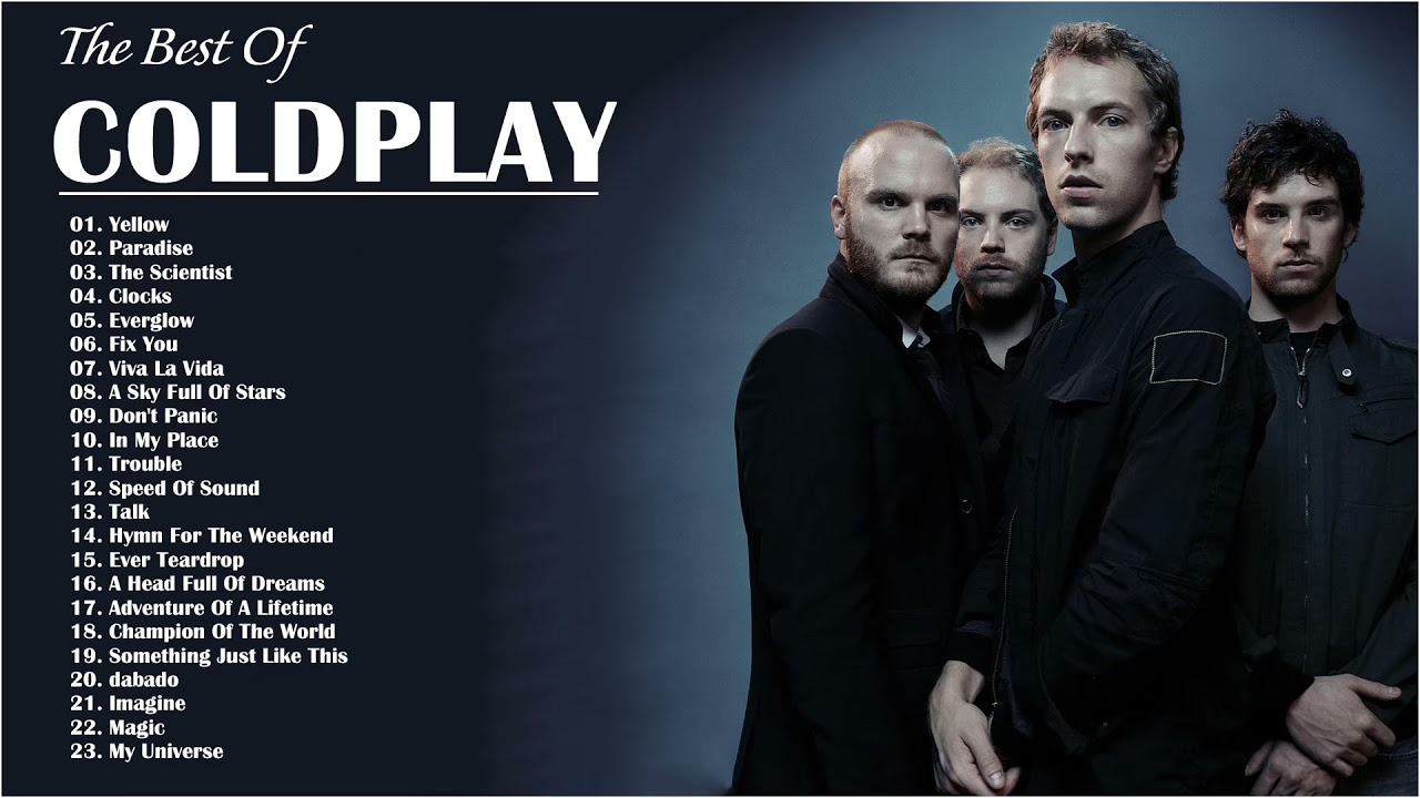 Coldplay Greatest Hits Playlist Álbum completo Melhores músicas do Coldplay
