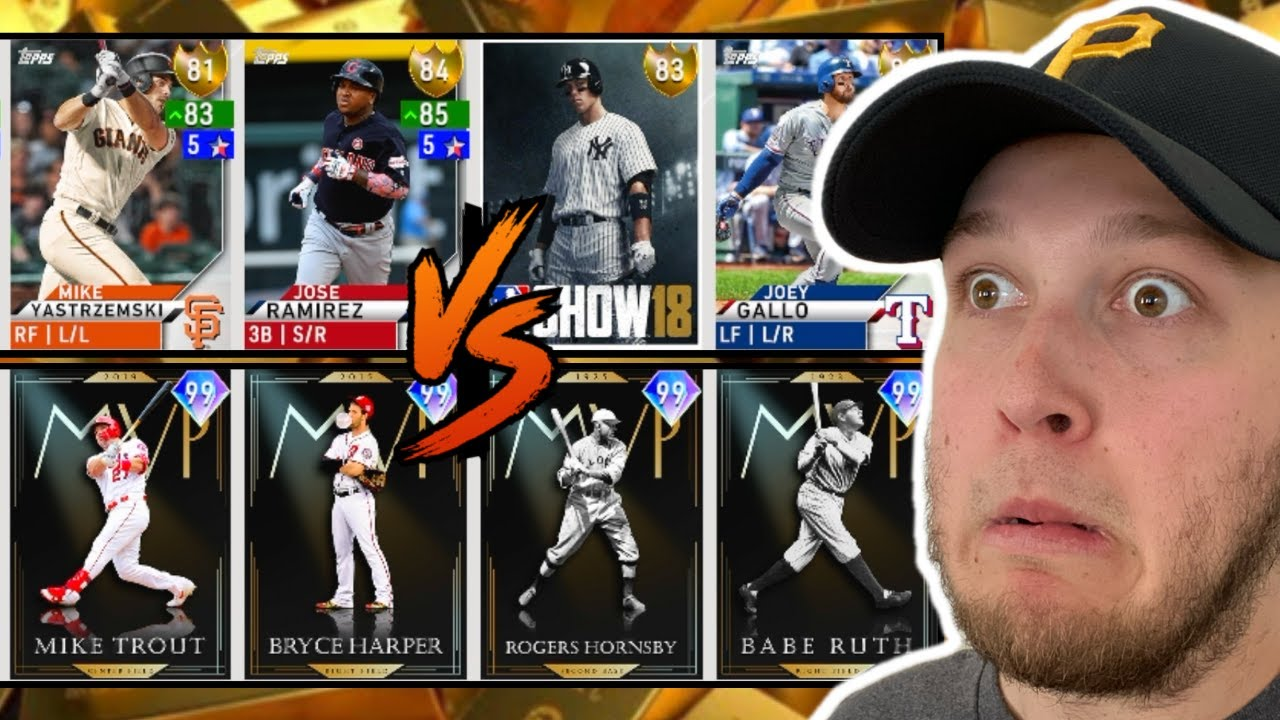 i used a team of GOLD PLAYERS ONLY and faced a full 99 GOD SQUAD... MLB The Show 20