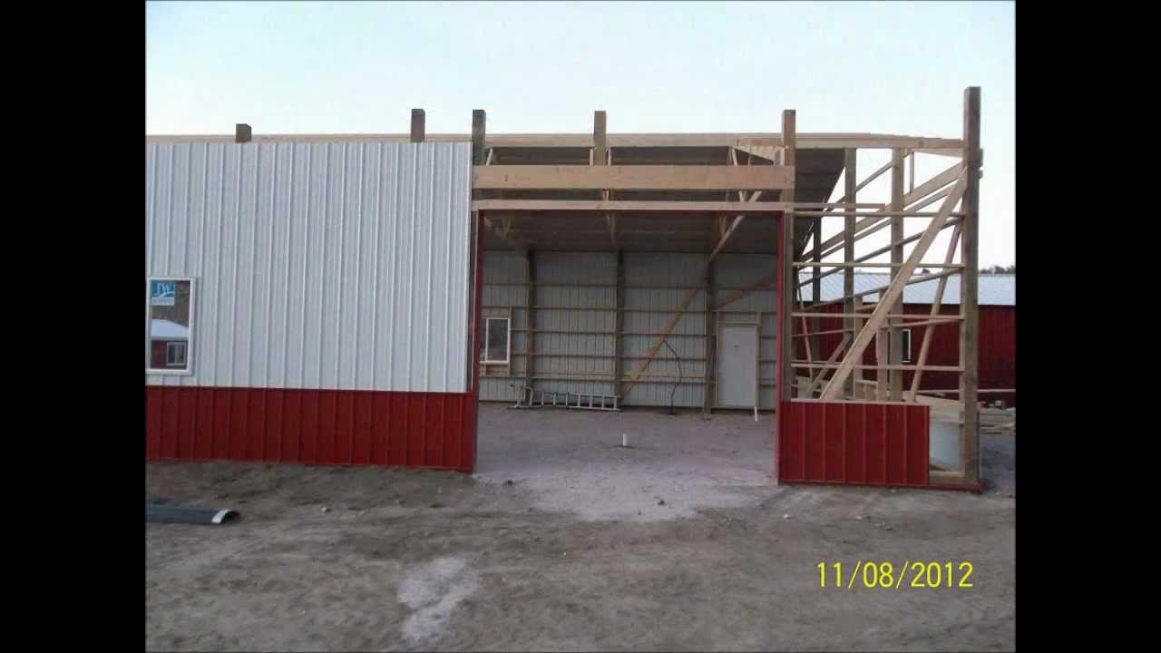 Square W Construction Post Frame Building - YouTube