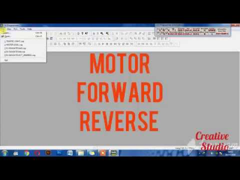 motor forward reverse ladder diagram explaination   cx-programmer   plc ( omron)
