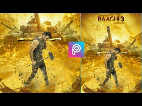 Baaghi 3 | Poster Photo Editing Picsart Movie Poster Editing Picsart Tutorial | Baaghi 3| SB EDITZ