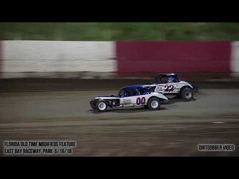East Bay Raceway Park Florida Old Time Modifieds Feature  6/16/18