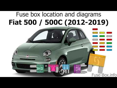 fuse box location and diagrams: fiat 500, 500c (2012-2019) - youtube  youtube
