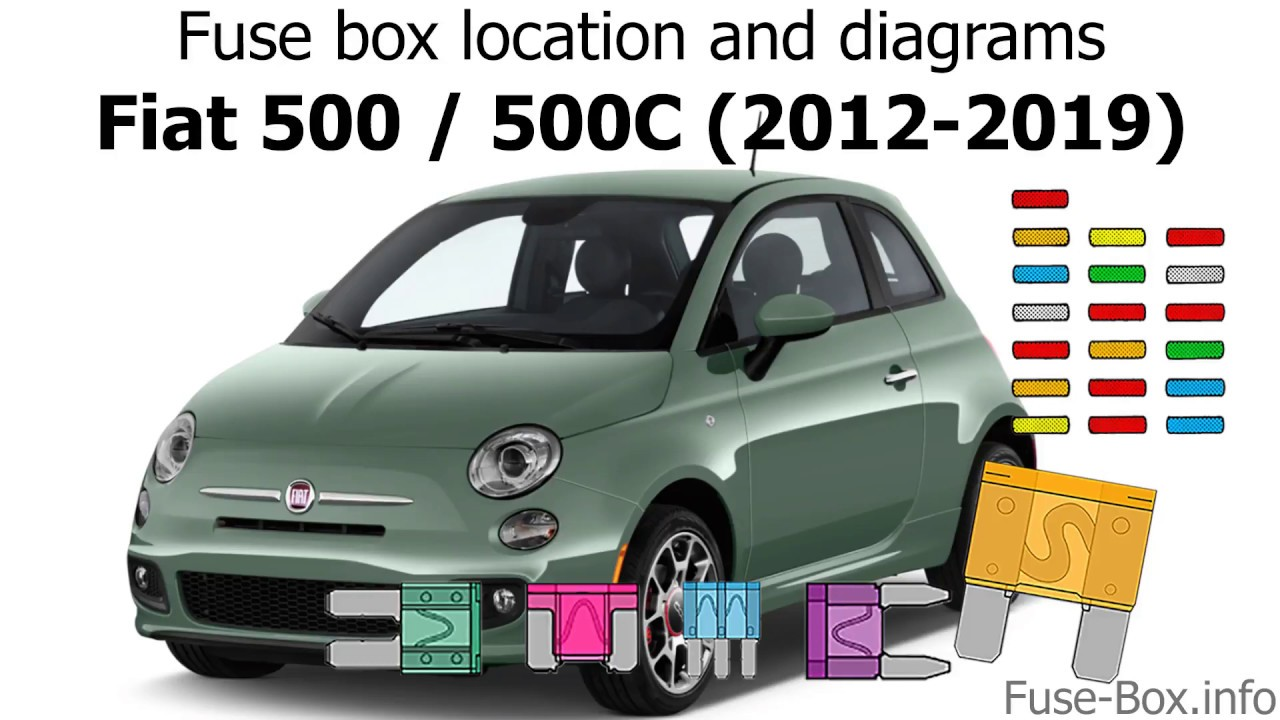Fuse box location and diagrams: Fiat 500, 500C (2012-2019) - YouTube | 2015 Fiat 500 Fuse Box |  | YouTube