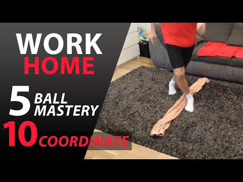 FOOTBALL TRAINING AT HOME FOR KIDS | BALL MASTERY AND COORDINATION #1