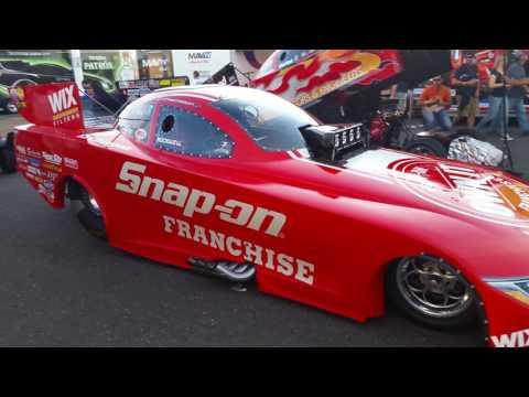Englishtown NJ Raceway park NHRA Top fuel qualifying 2016