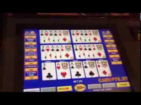 Four Aces With A 3 Dealt Five play Double Double Bonus Poker