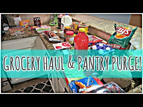 Grocery Haul + Pantry Purge + Weekly Meal Plan for $82
