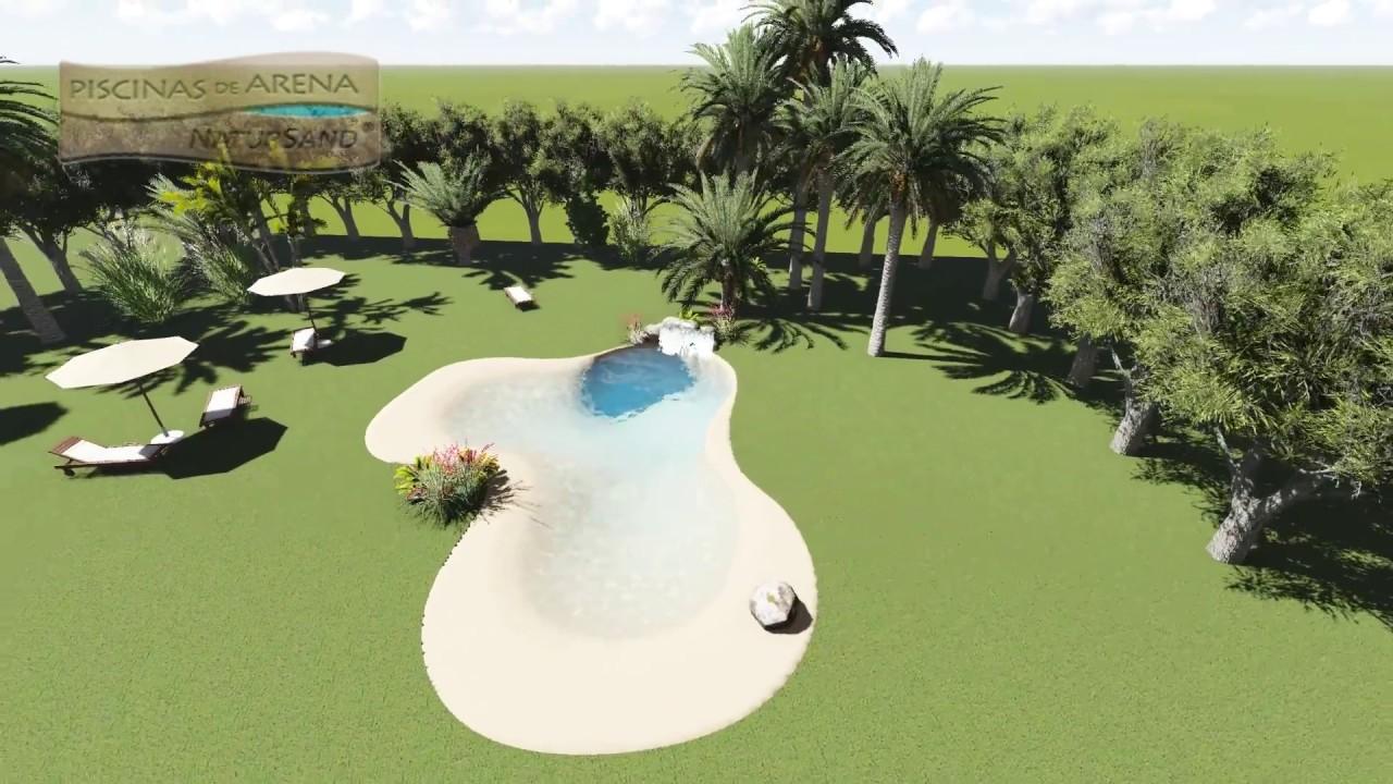 Diseño en 3 dimensiones para una piscina de arena en Marruecos - YouTube