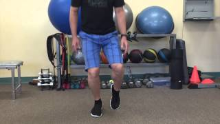 A simple starting exercise to stabilize the leg: Single Leg 1/4