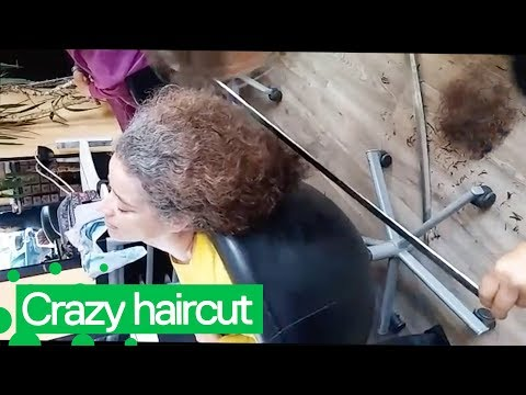 Trending HQ - Woman Gets a Haircut with Katana Swords and Other Blades