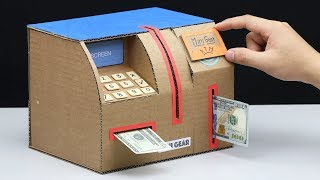 Build Personal ATM Machine Withdraw and Deposit Money from Cardboard thumbnail