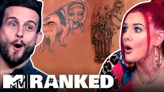 8 Brutal Tattoos Exes Gave Each Other   Ranked: How Far Is Tattoo Far?
